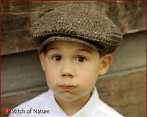 Crochet Hat PATTERN - The Belmont Scally Cap, Newsboy Hat Pattern (18 inch doll size, Newborn to Adult sizes - Girls, Boys) - id: 16019