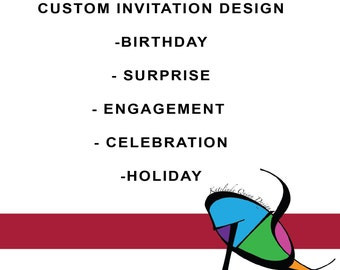 Invitations for your next event! Designed specifically for you! single sided