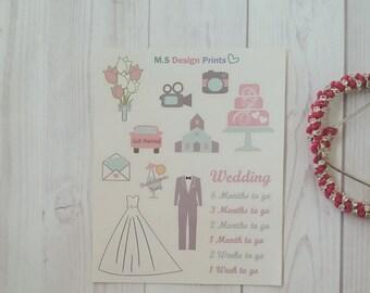 Wedding Planner stickers pack