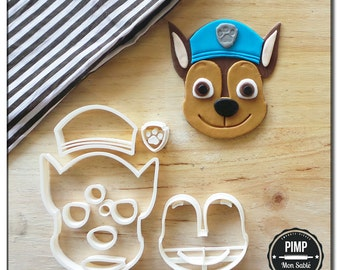 Cookie Cutter Chase Face / Set fondant