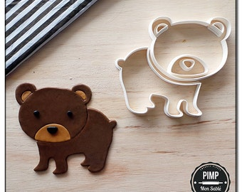 Cookie Cutter 3D Bear / Set fondant