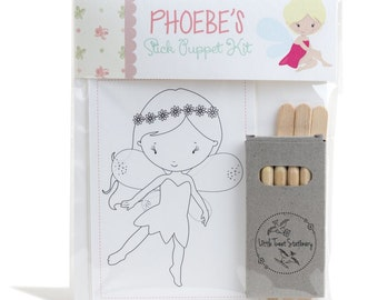 Personalised Fairy Stick Puppet Kit