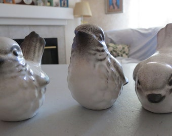 Vintage Set of Three Howard Pierce Birds