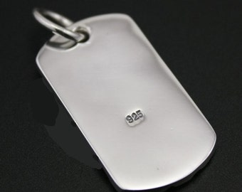 Sterling silver Dog tag (925 silver)