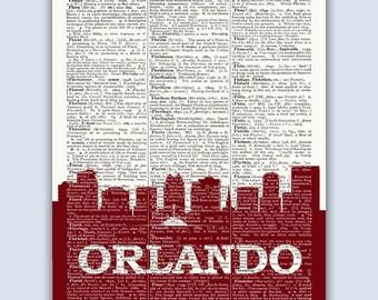 Orlando Skyline, Orlando Poster, Orlando Decor, Orlando Print, Orlando Wall Art, Orlando Gift, Orlando Wall Decor, Orlando Florida