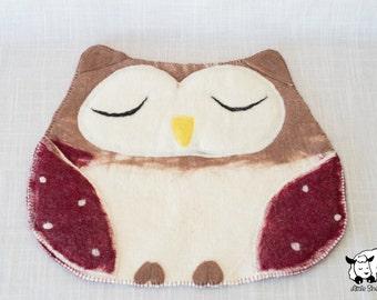 Cat Mat - Sleepy Owl