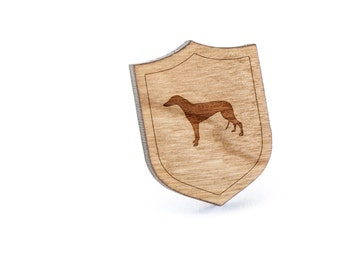 Greyhound Lapel Pin, Wooden Pin, Wooden Lapel, Gift For Him or Her, Wedding Gifts, Groomsman Gifts, and Personalized