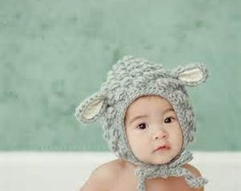 Sheep crochet hat
