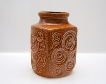 Amber coloured Jura vase by Scheurich West German Pottery, Fat Lava 282-16