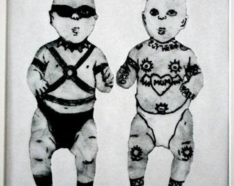 Superbaby - Adam and Eve (30x30cm)