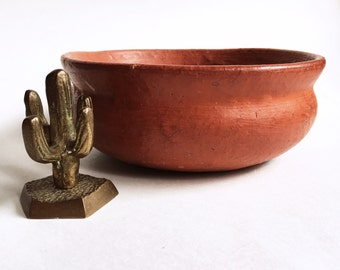 handmade Mexican terra cotta planter pot | bowl
