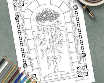 Adult Colouring Page Roman