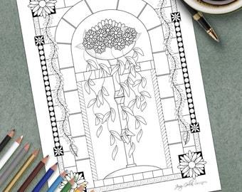 Printable Colouring Page Roman