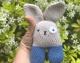 Soft rattle bunny toy