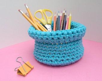 Crochet basket – Blue
