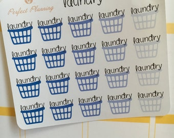 Laundry Stickers - Blue