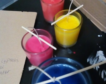 Large soy Cyprus sage blue candle