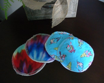 Breast pad washable-design multi and cream ice-breastfeeding-MOM-pad of breastfeeding-reusable-washable-soft-comfortable