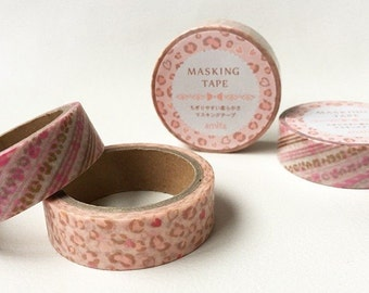 Valentine's Day pink leopard Masking Tape Deco Tape Journal Diary Deco DIY Stationery T0224