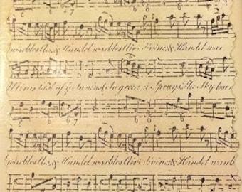 Antique Music Sheet Coaster