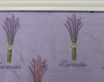 Machine  Embroidered lavender  stuffed pillow