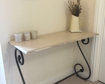 Beautiful side table painted and distressed with chalk paint