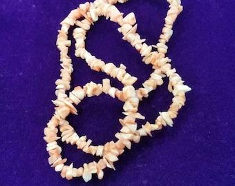 Vintage Natural pink coral necklace