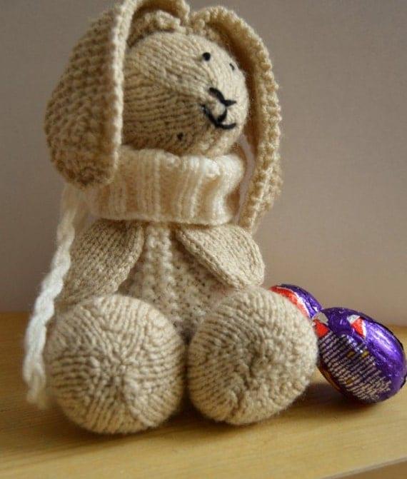 Knitting Pattern Rabbit Ears : Bunny bag knitting pattern rabbit backpack