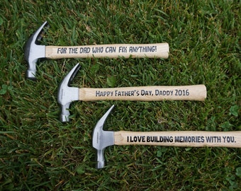 Personalized Hammer, Anniversary Gift, Housewarming Present, Funny Gift for Guys
