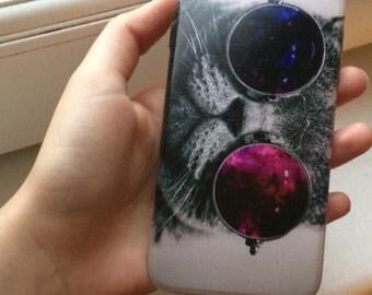 Black Phone Cat Case, iPhone 6 Plus Cat Case, iPhone 6s Cat Case, iPhone 6 Cat Case, Samsung Cat Phone Case, Samsung 6 Phone Case