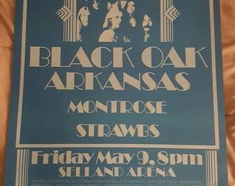 Black Oaks Arkansas concert poster