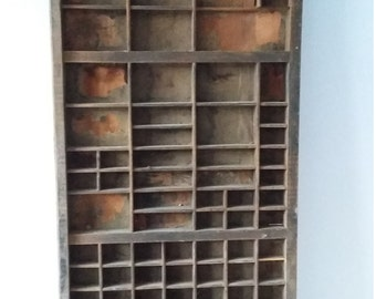 Letterpress Printing Compositors Tray Old Wooden Printers Type Tray