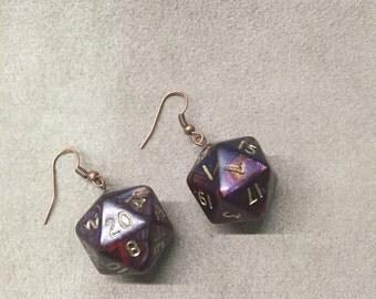 Pair of earring D & D d20