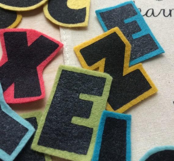 Felt board letters modern rainbow flannel board letters for Flannel board letters