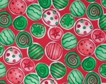 "Kathy Davis- designer for FreeSpirit  Cotton Fabric    ""Joyful Holiday""  Shiny and Bright"