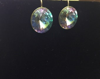 Beautiful glass gem earrings