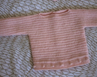 Patrón suéter bolitas 3 meses