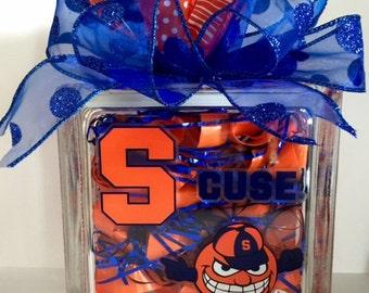 Syracuse University Otto the Orange SU Glass Block Decoration
