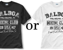 Balboa boxing Club Rocky Movie Philly Retro Work Out Gym Men's Tee Shirt
