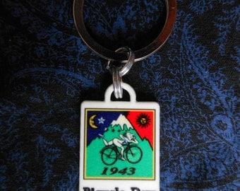Keychain Bicycle Day Souvenir Glow in the dark Albert Hoffman Bike Ride 1943