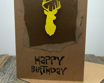 Happy Birthday Card, Happy Birthday Buck Card, Happy Birthday Deer Card, Happy Birthday Hunting Card, Birthday Card