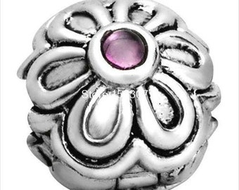 S925 Sterling Silver Zinnia Red CZ Bracelet Clips... FREE Shipping in USA