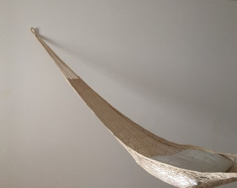 Hammock 1 person cotton handmade from Mexico nature