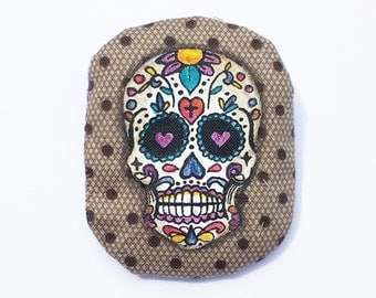 PIN Calavera, handpainted on fabric