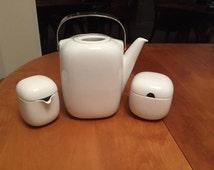 Rosenthal Suomi Coffee Pot Covered Sugar Bowl Creamer Signed Timo Sarpaneva MCM