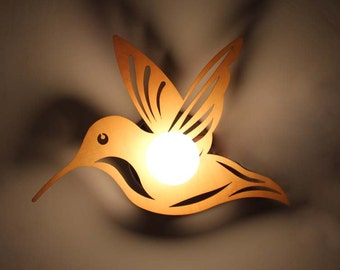 Bird Wall Lamp Wooden Materical and Metal Base Decor Hallway Lights One Lamp Wooden Lighting Fixtures Home Night Lights