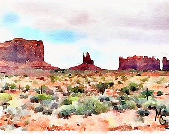 Monument Valley Watercolor