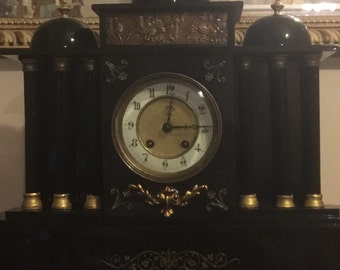 Ornate french chiming clock