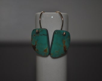 Turquoise 14k Dangle Popper Earrings