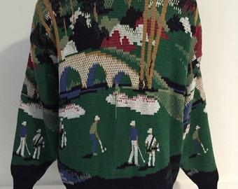 Vintge Golf Sweater L